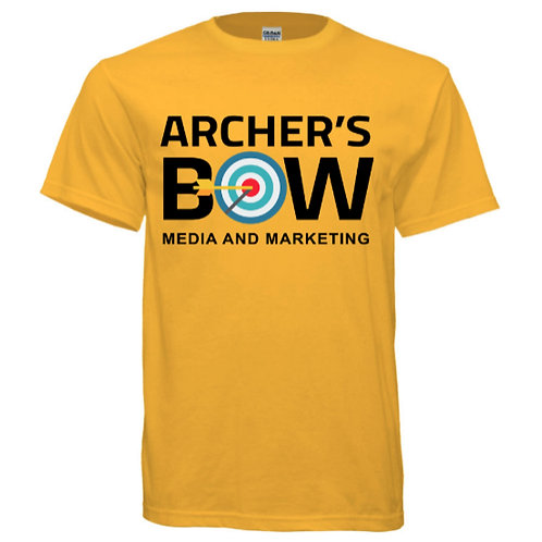 Gold Archer's Bow Gildan Ultra Cotton Tee