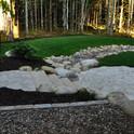 Backyard path and patio