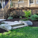 Walkway and Natural Stone Steps