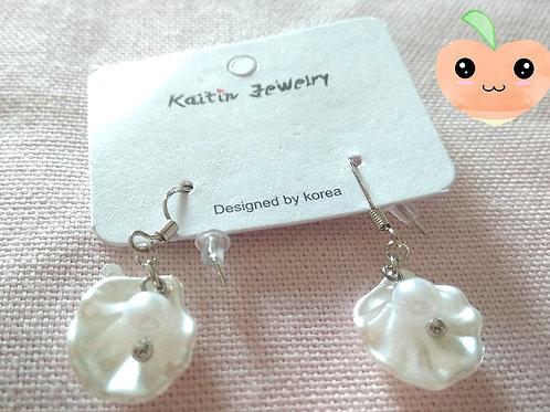 Boucles d'oreilles coquillage et perle