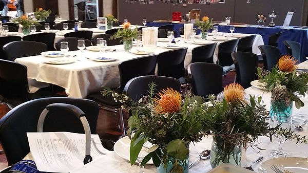 Tables set up for function at Kinglake Church