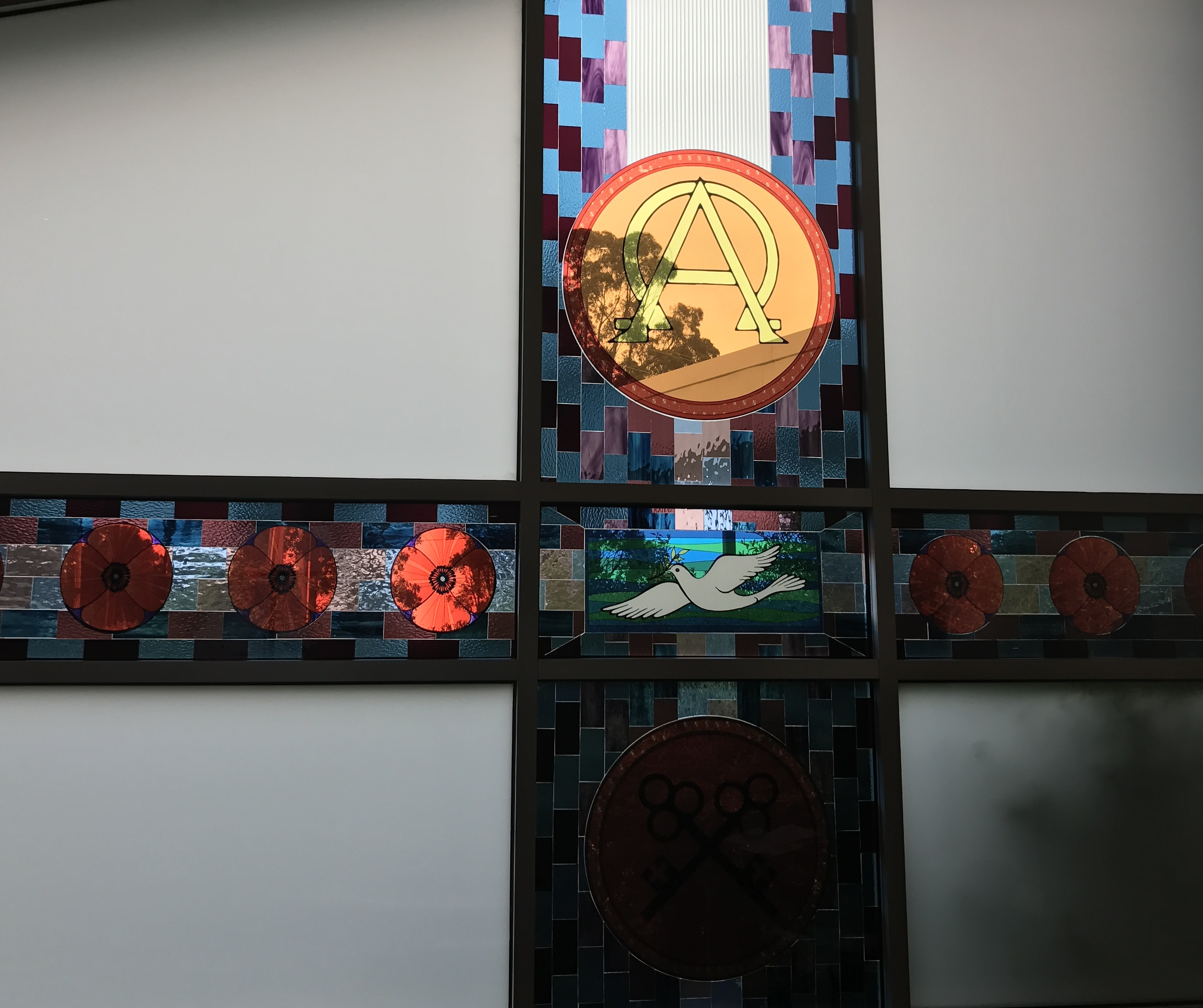 Stained Glass Window Cross