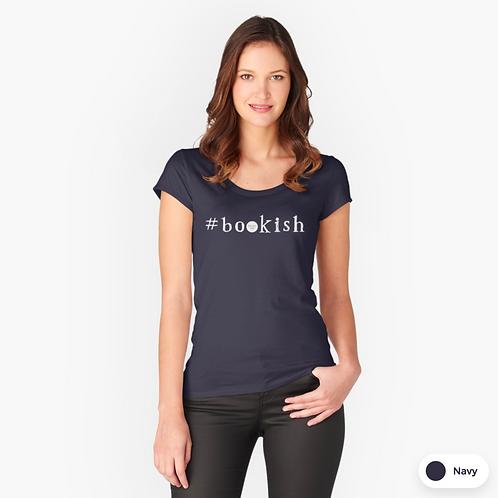 Navy women's tshirt - Bookish design