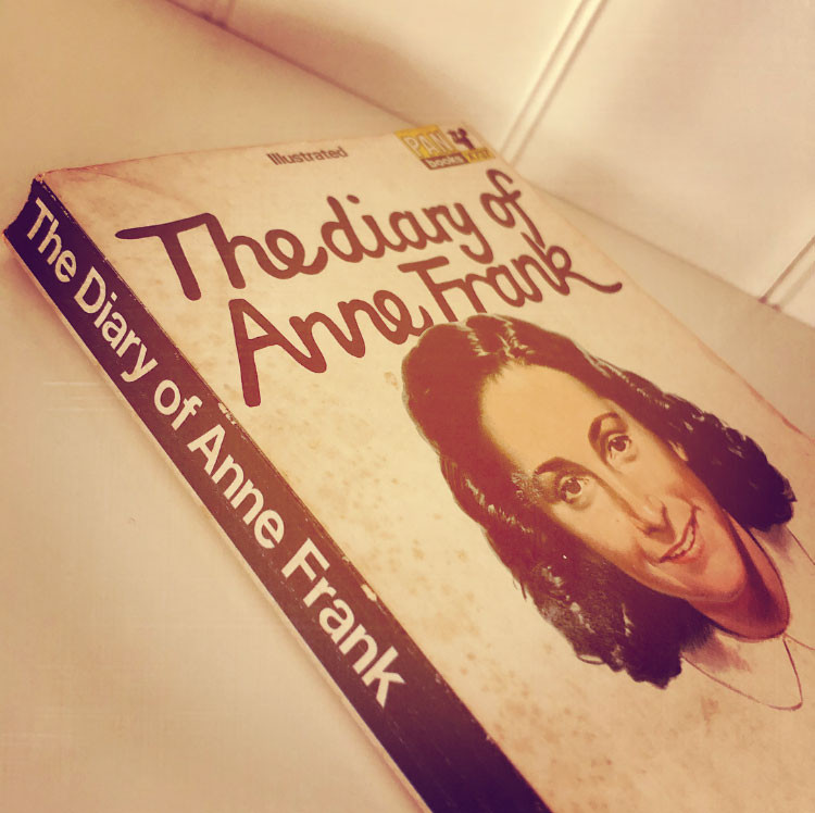 Book cover: The diary of Anne Frank