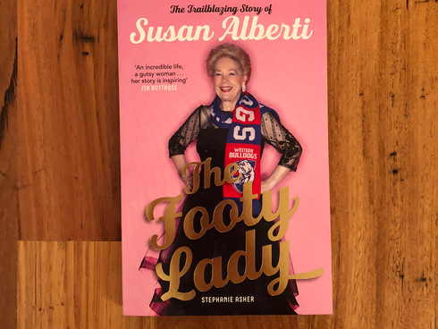 The Footy Lady: The Trailblazing Story of Susan Alberti by Stephanie Asher | Book Review