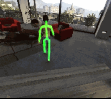 GANs For Human Pose Extraction From Simulated Game Images