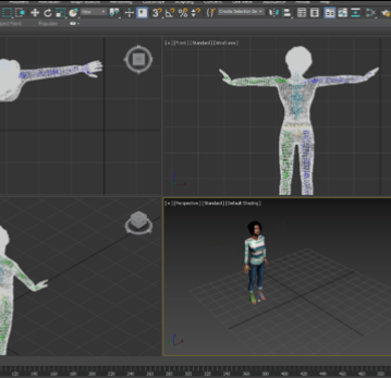 Motion Capture Data to 3D Character Conversion