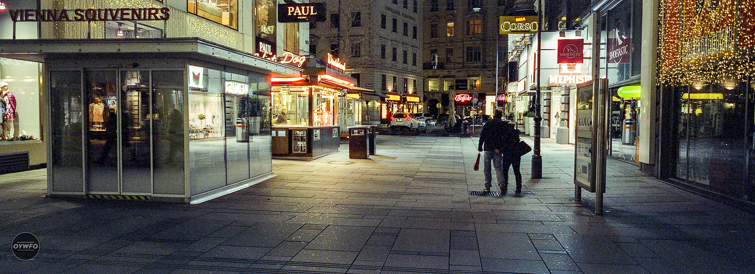 Austria - Shot with Hasselblad Xpan and CineStill 800 film pushed at 3200 ISO