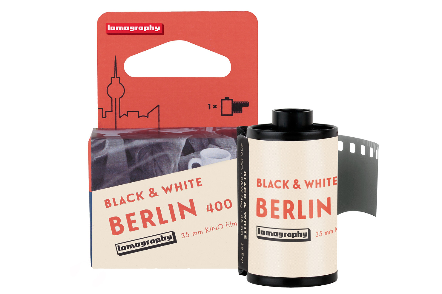Lomography Berlin Kino 400 35mm roll packaging