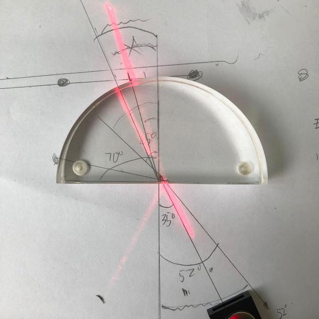 Refraction angles