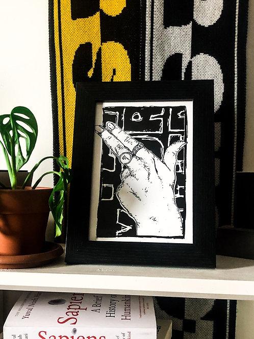 Gun Finger A5 Art Print