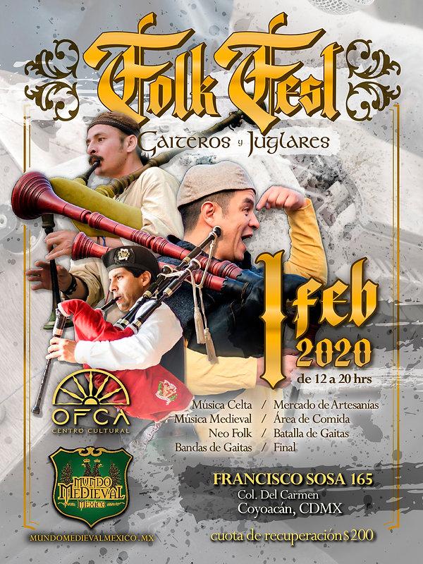 Flyer-Folk Fest - Gaiteros y Juglares -