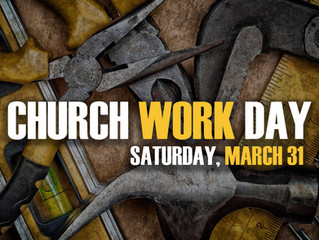 Work Day - Saturday, March 31