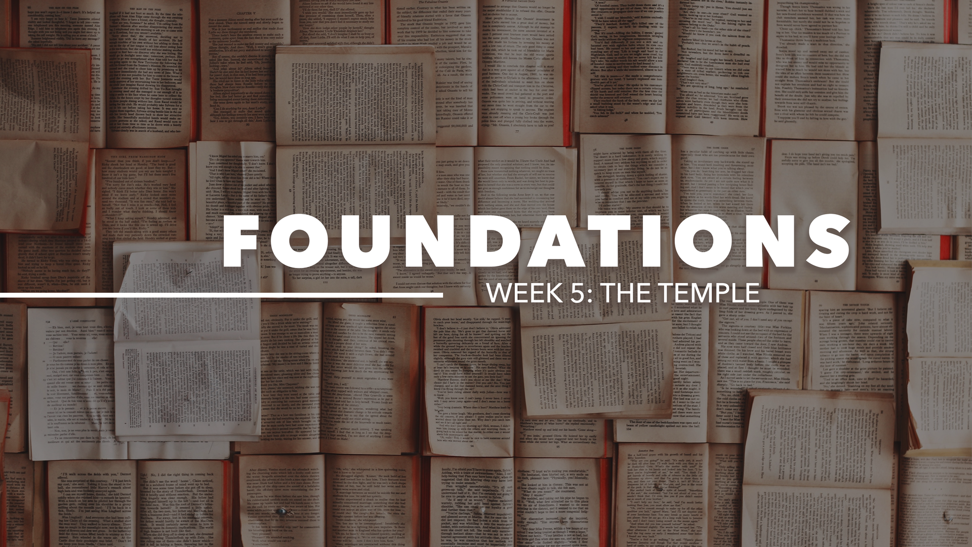 Week 5: The Temple