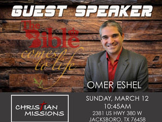 Guest Speaker - Sunday, March 12