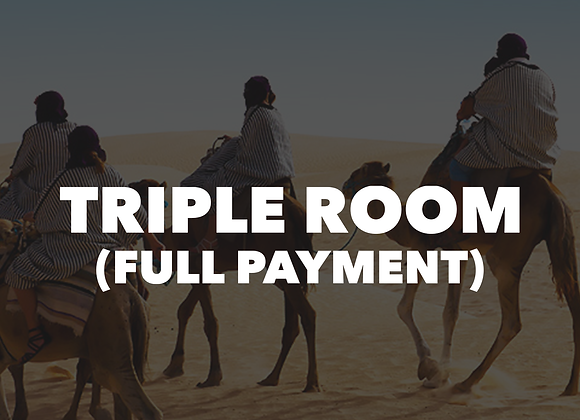 Mt. Lassen Triple Room (Full Payment)