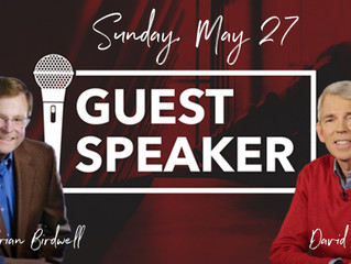 Guest Speakers: Sunday, May 27