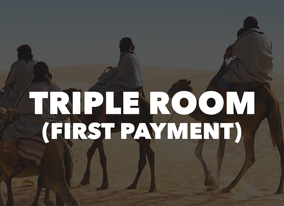 Mt. Lassen Triple Room (First Payment)