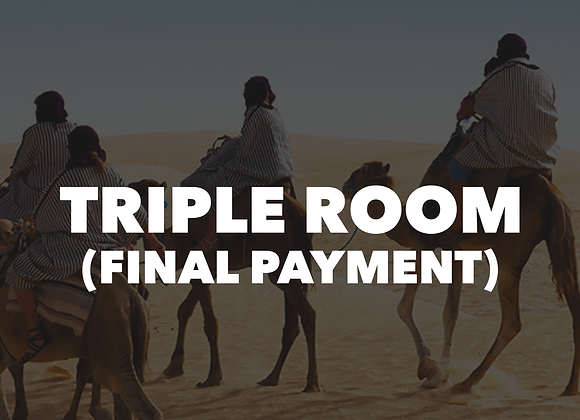 Mt. LassenTriple Room (Final Payment)