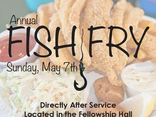 Annual Fish Fry - Sunday, May 7