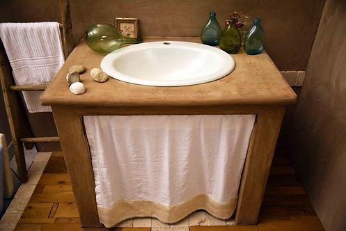 Mobile lavabo tadelakt