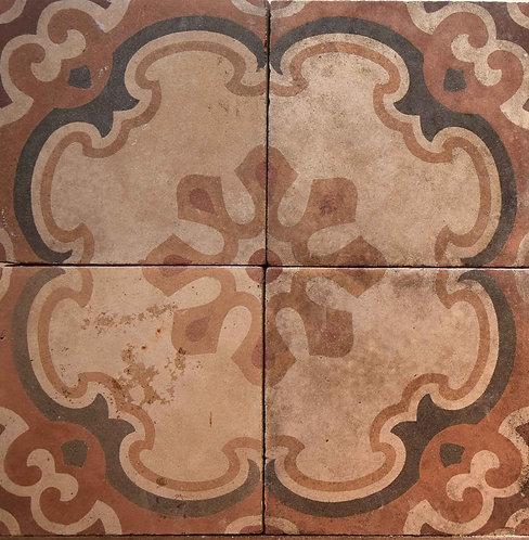 Cementine quadrate decorate FIO7
