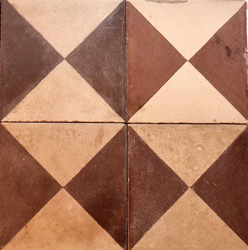 Cementine quadrate decorate ROM04