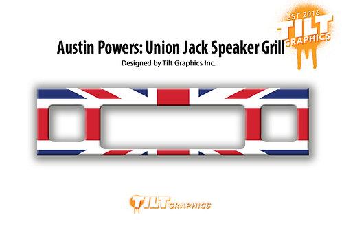 Austin Powers: Union Jack Speaker Grill Decal