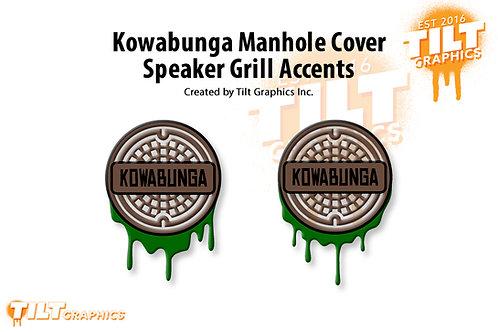 Kowabunga Manhole Cover Speaker Grill Accents