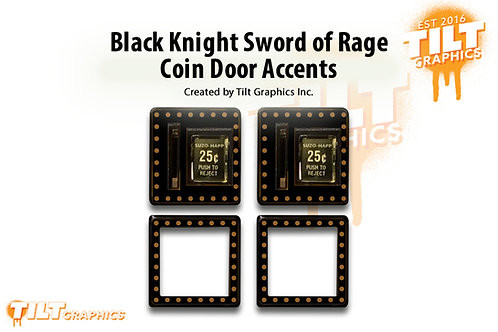 Black Knight SOR Coin Door Accents