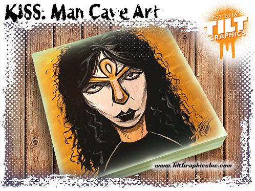 """KISS: Vinnie Vincent 8""""x8"""" Cave Art"""