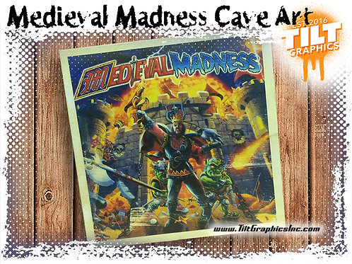 """Medieval Madness: 8""""x8"""" Cave Art"""