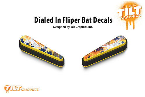 Dialed In Flipper Bat Decals