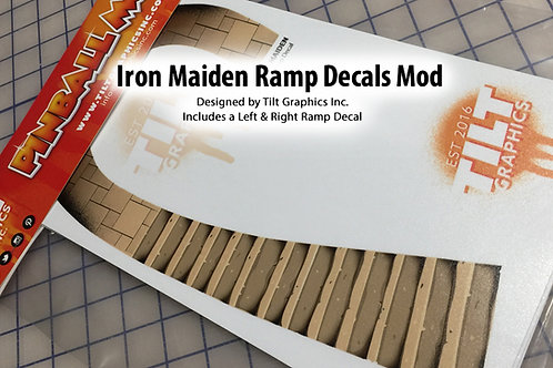 Iron Maiden Stone Steps Ramp Decals: Large