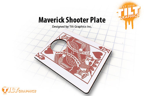 "Maverick ""King of Harts"" Shooter Plate"