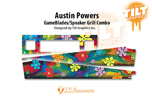 Austin Powers: Groovy Speaker Grill & GameBlades Combo