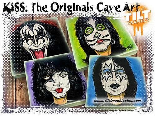 """KISS: The Originals 8""""x8"""" Cave Art"""