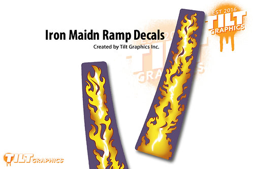 Iron Maiden Flames Ramp Decals: Small