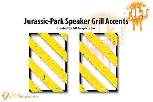 """Jurassic-Park """"Hazard"""" Speaker Grill Accents"""