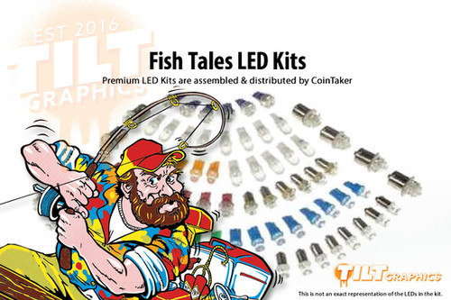 FISH TALES pinball We have the WORLDS cheapest KITS! Complete LED Kit