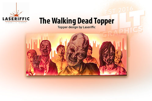The Walking Dead Inspired Pinball Topper - Made in the USA