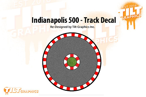 Indianapolis 500 Track Decal