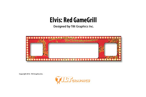 Elvis: Red Speaker Grill Decal