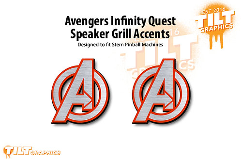Avengers Infinity Quest Speaker Grill Accents