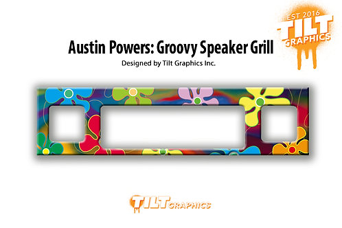 Austin Powers: Groovy Speaker Grill Decal