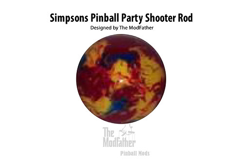Simpsons Pinball Party Custom Shooter Rod