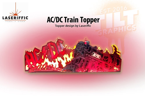 AC/DC Train Pinball Topper