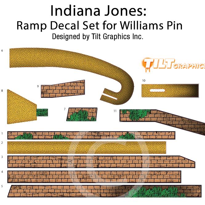 Pinball Mods Tilt Graphics Inc Indiana Jones Ramp Decals Mod - Decal graphics inc