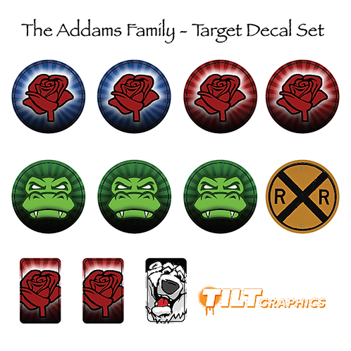 Addams Family Target Decals