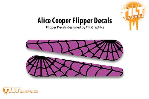 Alice Cooper Web Flipper Decals
